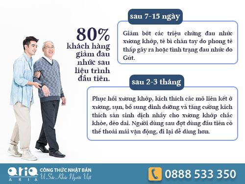 Uống Xương khớp Aria có gây giữ nước và tăng cân không
