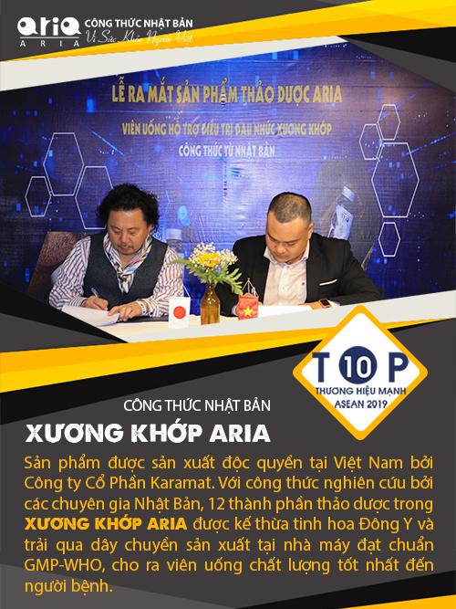 Có nên sử dụng Xương khớp Aria hỗ trợ điều trị viêm khớp - công thức nhật bản - TOP 10 THƯƠNG HIỆU MẠNH ASEAN 2019