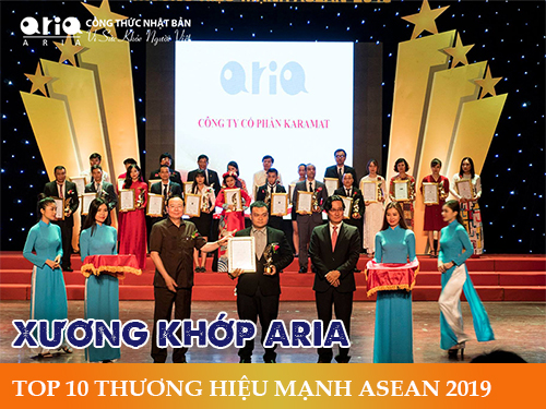 Thực hư Công thức Nhật Bản của Xương khớp Aria - TOP 10 THƯƠNG HIỆU MẠNH ASEAN 2019